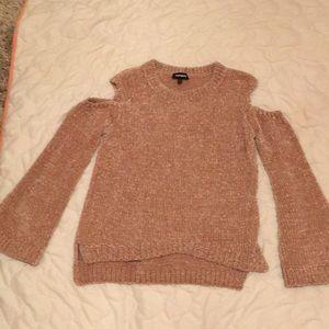 Cold Shoulder Express Sweater
